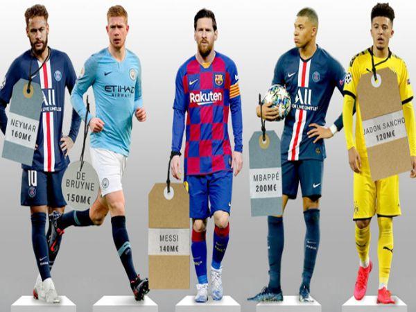 Top 10 cầu thủ đắt giá nhất thế giới Ronaldo vắng mặt