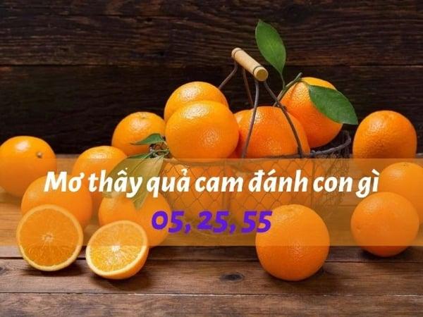 Mơ thấy quả cam điềm báo tốt hay xấu?